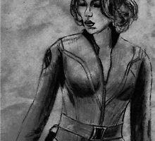 Black Widow in the Avengers by NicoleJadeArt
