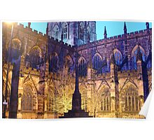 CHESTER CATHEDRAL AT NIGHT Poster