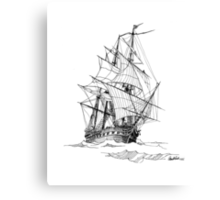 Square Rig Before the Wind Canvas Print