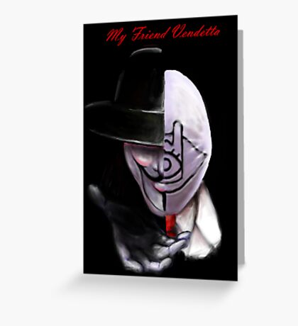 Asian movie - two faces Greeting Card
