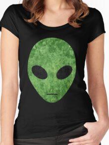 Green Alien Women's Fitted Scoop T-Shirt