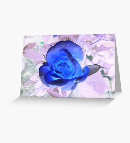 Spooky Blue Greeting Card