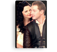 Once Upon a Time - Snow x Charming Metal Print
