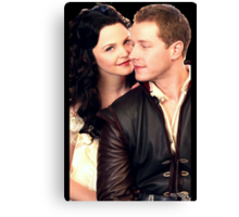 Once Upon a Time - Snow x Charming Canvas Print