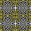 Funky Black n Gold Aztec Pattern by webgrrl