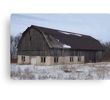 Old Wood Barn Canvas Print
