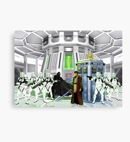 time and space traveller lost in the galaxy far far away Canvas Print