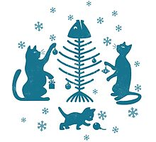 Cats at Christmas by Alexander  Medvedev