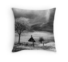 Lonely Cottage Throw Pillow