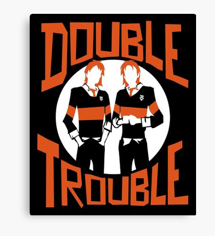 Official Phelps Twins - Double Trouble Tee Canvas Print