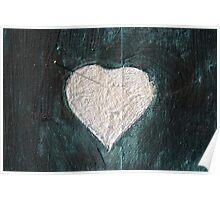White Heart Poster