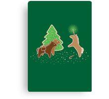 Gingerbread Unicorn Canvas Print