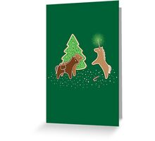 Gingerbread Unicorn Greeting Card