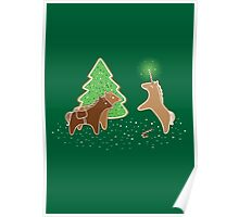 Gingerbread Unicorn Poster