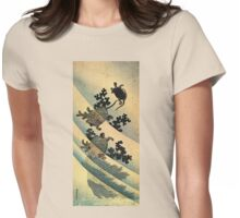 'Turtles' by Katsushika Hokusai (Reproduction). Womens Fitted T-Shirt