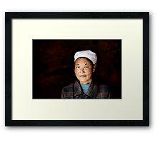 Chinese woman - Leshan Framed Print