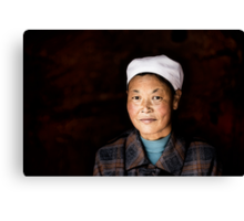 Chinese woman - Leshan Canvas Print