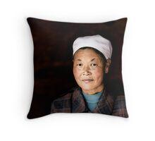 Chinese woman - Leshan Throw Pillow