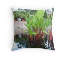 pond reeds Throw Pillow
