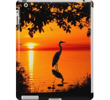 Heron at Sunset  iPad Case/Skin