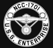 USS Enterprise Logo - Star Trek - NCC-1701 (TOS) by createdezign