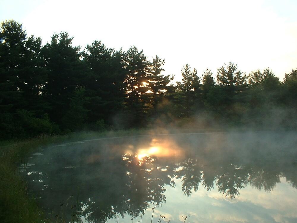 Morning Mist Reflection by Joseph Klatka