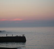 Evening fishing at Sennen by kazzie