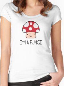 I'm a Fungi Fun Guy Mushroom Women's Fitted Scoop T-Shirt
