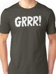 Grrr! White on Black Unisex T-Shirt