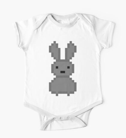 Grey bunny One Piece - Short Sleeve