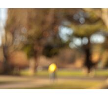 Park, Cyclist, Rucksack Photographic Print