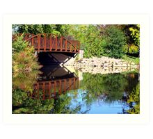 Riverside Bridge Art Print