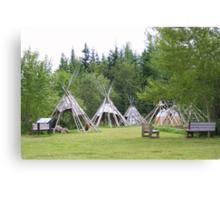 Camp At Grand Portage Canvas Print