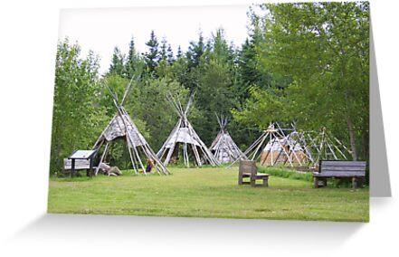 Camp At Grand Portage by Elizabeth  Lilja
