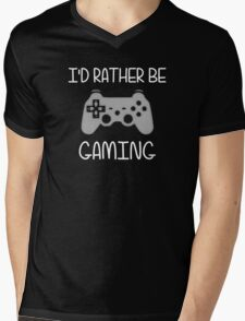 I'd Rather Be Video Gaming Mens V-Neck T-Shirt