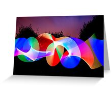 Light graffiti  Greeting Card