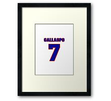 National baseball player Alberto Callaspo jersey 7 Framed Print