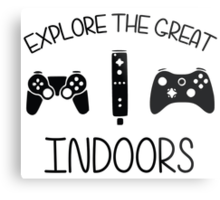 Explore The Great Indoors Video Games Metal Print