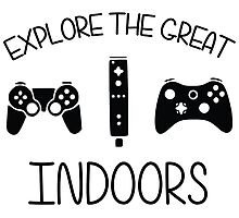 Explore The Great Indoors Video Games Photographic Print