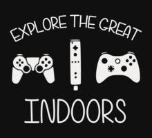 Explore The Great Indoors Video Games by TheShirtYurt