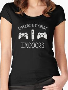 Explore The Great Indoors Video Games Women's Fitted Scoop T-Shirt