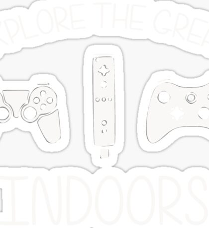Explore The Great Indoors Video Games Sticker