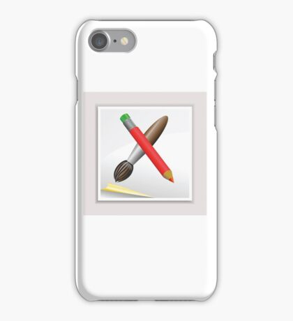 pencil and brush iPhone Case/Skin