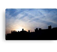 Dublin evening's sky Canvas Print