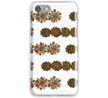 Soft Pink Pearl and Bead Flowers with Gold Sequins - Vintage Bling iPhone Case/Skin