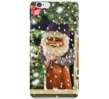 Father Christmas in the Snow iPhone Case/Skin