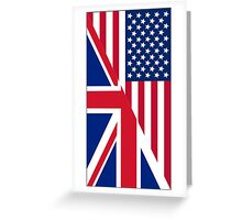 American and Union Jack Flag Greeting Card