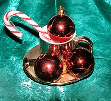 Christmas Balls and Candy Cane by boopfto