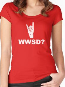 What Would Satan Do?  WWSD? Women's Fitted Scoop T-Shirt