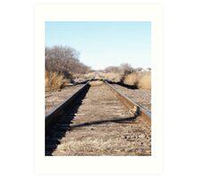 Train Track Art Print